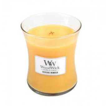 Bougie Woodwick  Seaside Mimosa jarre 60H