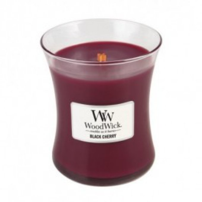Bougie Black Cherry jarre 60H